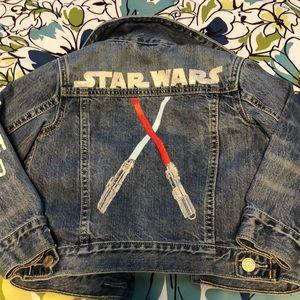 EUC Gap Star Wars Denim Jacket Size 4